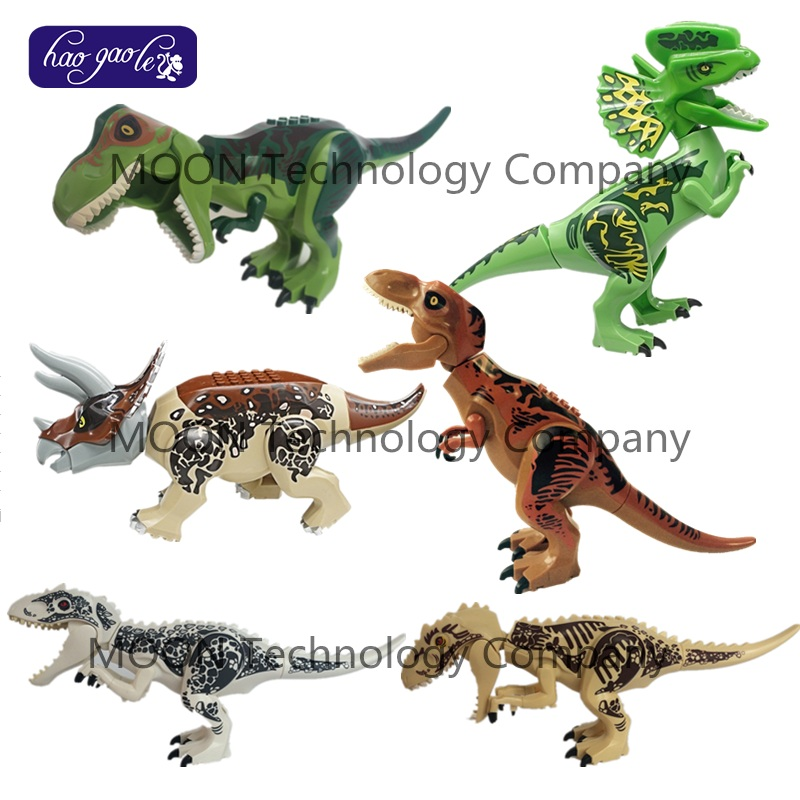 12 pcs/lot Tyrannosaurus blocs de construction triceratop dinosaure t-rex briques enfants cadeau Compatible avec YG77028/YG77011/YG77029