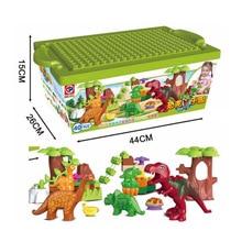 40Pcs/Lot Dino Valley Building Blocks Sets Large particles Animal dinosaur World Model toys Bricks Duploe No original box