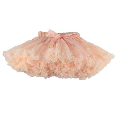 ; пышные шифоновые юбки-американки для малышей; 21 цвет; юбки-пачки для девочек; фатиновая юбка принцессы для танцевальной вечеринки; Нижняя юбка; - Цвет: apricot