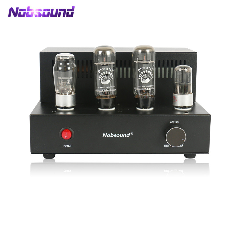 2018 Latest Nobsound EL34 Vacuum Tube Amplifier HiFi Single-ended Class A Pure handmade Desktop Stereo Power Amplifier aiqin hifi exquis el34 tube amp single ended class a handmade scaffolding amplifier finished stereo vacuum tube amplifier