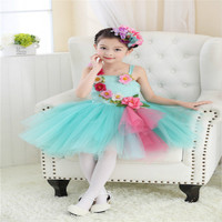 International Children's Day Girls Dance Dress Kids Princess Wedding Party Performance Costumes Ball Gown Floral Dresses Clothes