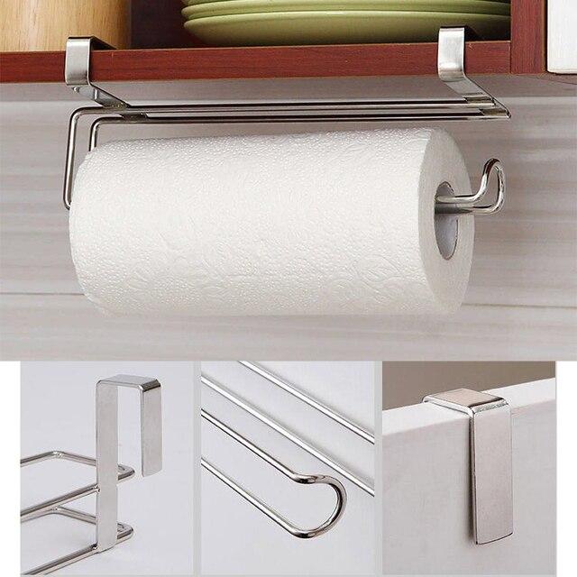Rollenhalter Küche | 1 Stucke Rollenhalter Edelstahl Handtuch Papier Kuche Unter Rack