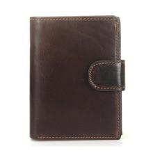 Men Wallet Oil Wax Cowhide Genuine Leather Wallets Coin Purse Clutch Hasp Open Retro Short Wallet