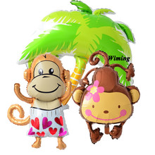 balloon birthday toys baby kids children birthday party decorations animal shaped big inflatable helium foil monkey balloon