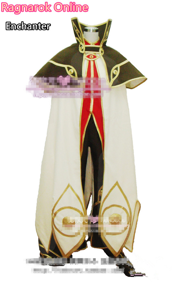 [Customize]Anime!Ragnarok Online Enchanter Cosplay Costume shirt+cloak+pants+gloves Free Shipping playwright as enchanter