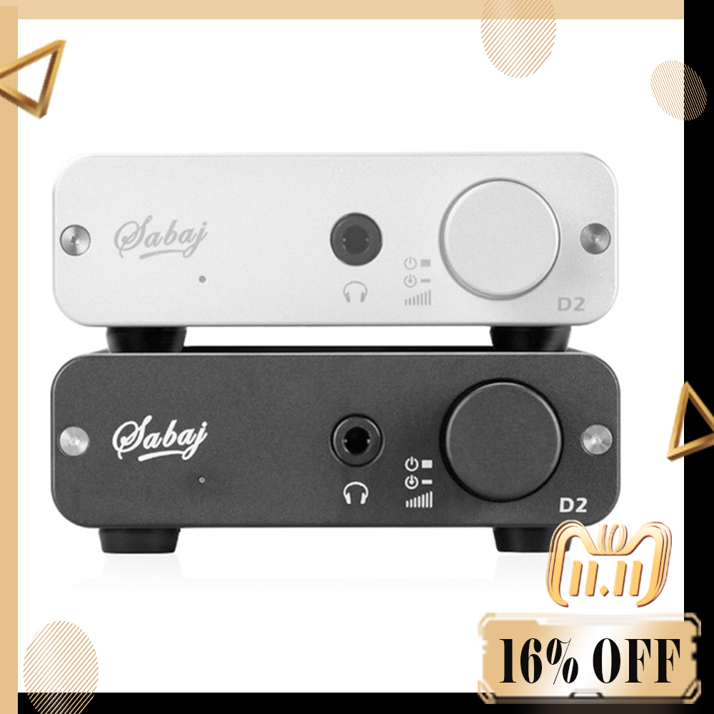 SABAJ D2 Portable Audio DAC avec Casque Amplificateur avec 3.5mm Casque Jack Sortie Optique Coaxial USB Entrée RCA Mini audio