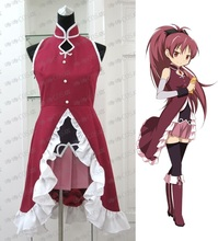Anime Puella Magi Madoka Magica Sakura Kyouko Cosplay Costume Halloween Party Costume Adult Costumes for Women Custom Any Size недорого