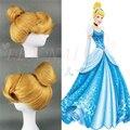 Новый Disney Princess Золушка золотой головкой популярный стиль волос парики популярные косплей парик