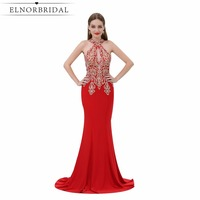 Sexy Mermaid Burgundy Prom Dresses Long 2017 Open Back Robe De Soiree Deep V Neck Party