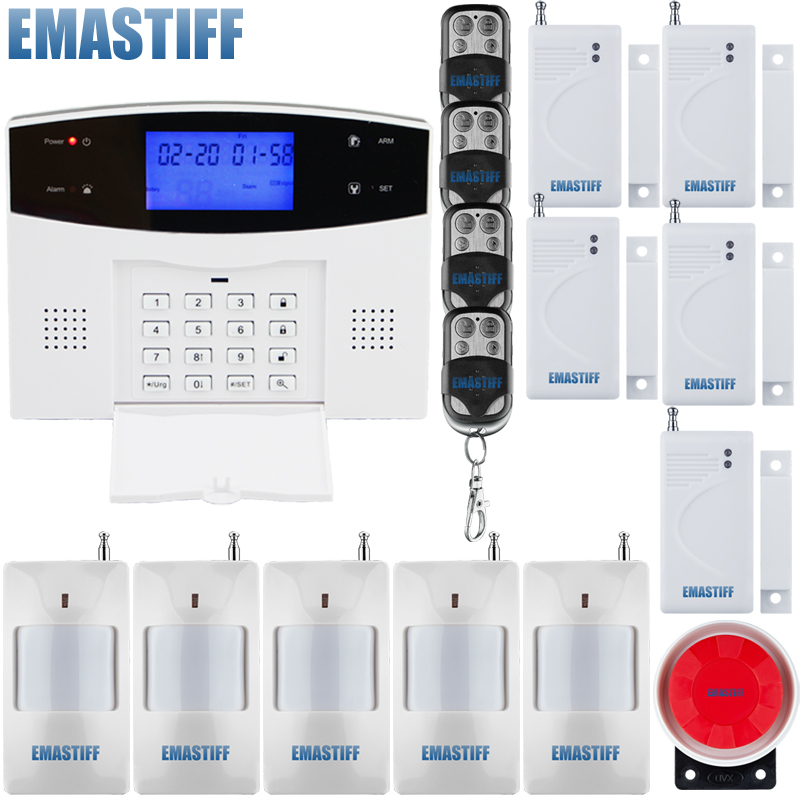 wireless infrared GSM alarm system for home Security Protection with door window gap sensor
