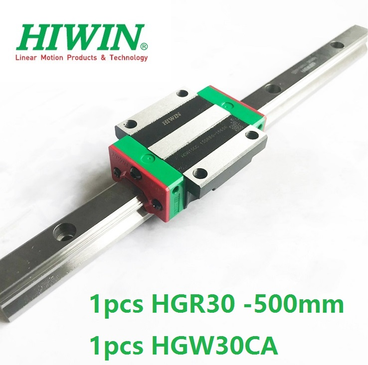 все цены на 1pcs 100% original Hiwin linear rail guide HGR30 -L 500mm + 1pcs HGW30CA HGW30CC flange block for cnc router онлайн