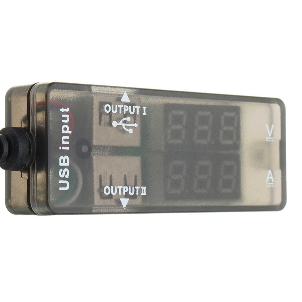 شاشة Led USB تستر شاحن الجهد مقياس التيار الكهربائي الحالي متر DC 3.2-10 فولت