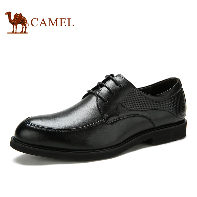 Camel Hot Men's Leather Lace Business Dress Shoes Patent Leather Shoes Antiskid Breathable Cushioning Comfort A632043610
