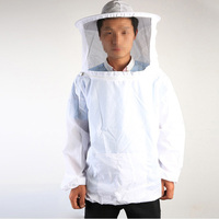 White Anti Bee Clothing Bee Protective Clothing And Hat Black Mesh Beekeeper Tool
