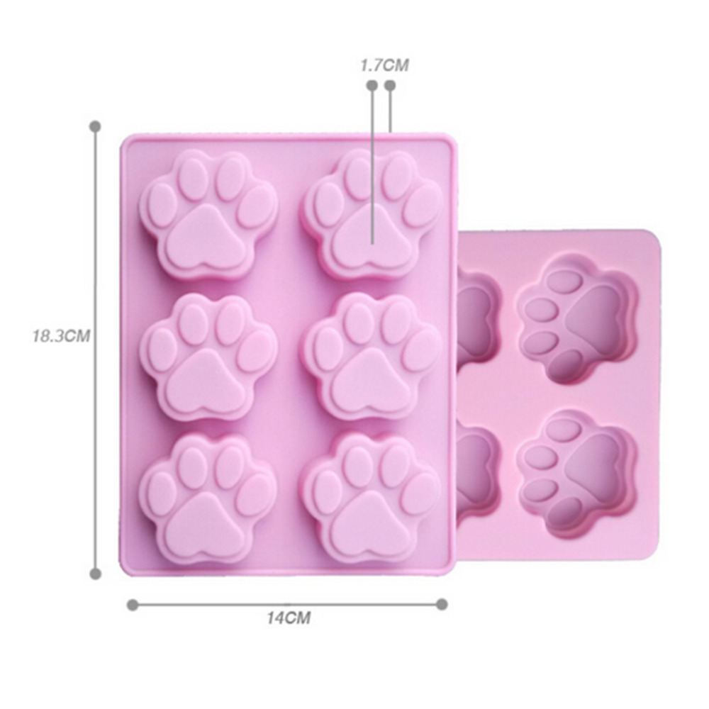 Cat Paw Print Silicone Fondant Cake Mould Candy Chocolate Soap Mold Baking Mold Cake Decorating Tools
