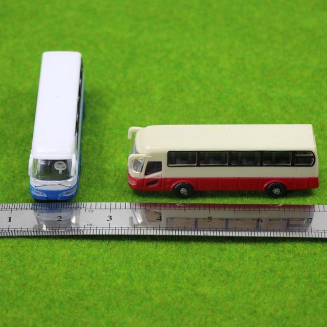 2pcs Model Cars Buses 1:100 TT HO Scale Railway Layout Plastic NEW Free Shipping  BS10001  railway modeling 4