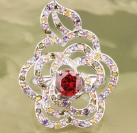 Divine Around The 3 Laps Multi Color Morganite 925 Sterling Silver Fashion Trendy Women S Jewelry