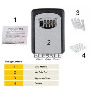 Image 2 - Chiave Dellorganizzatore di Immagazzinaggio Scatole con 4 Cifre A Parete Combinazione di Password Chiavi Gancio Organizzatore Scatole di Metallo di Piccole Dimensioni Segreto Cassetta di sicurezza