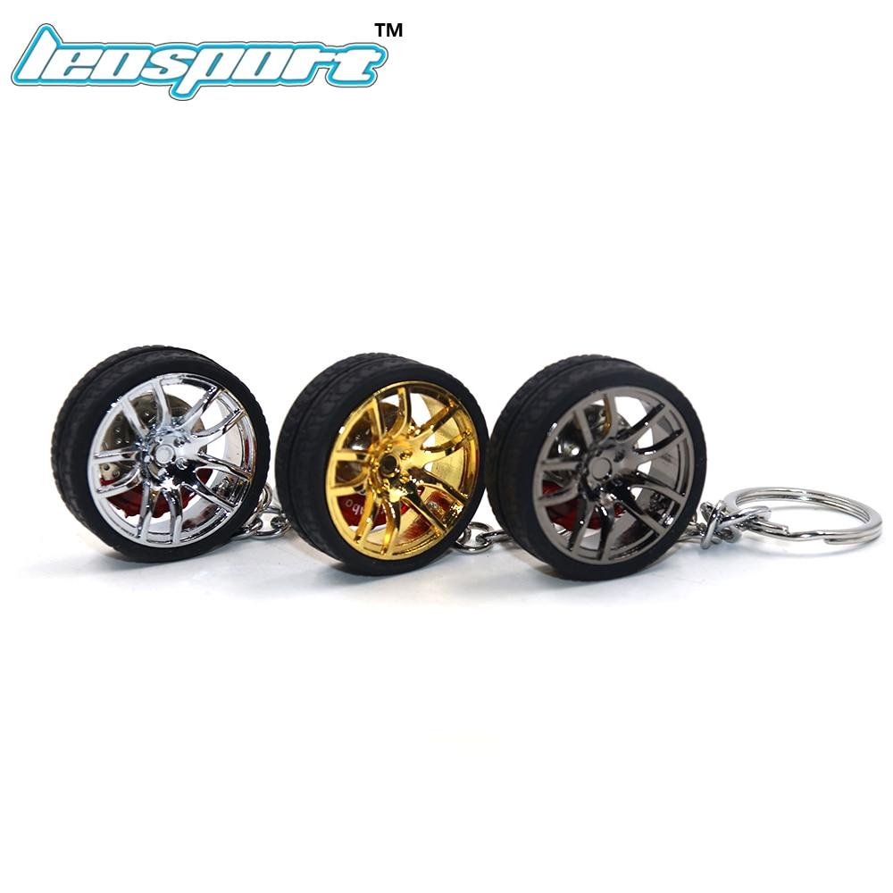 LEOSPORT RIM wheel keychain Car wheel Nos Turbo keychain key ring metal with Brake discs 002