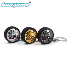LEOSPORT-RIM wheel keychain Car wheel Nos Turbo keychain key ring metal with Brake discs 002