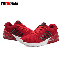 Men Leisure Mesh Flying Weaving Breathable Cushioning Marathon Running Shoes Fashion Ultralight Wear Resistant Sneakers