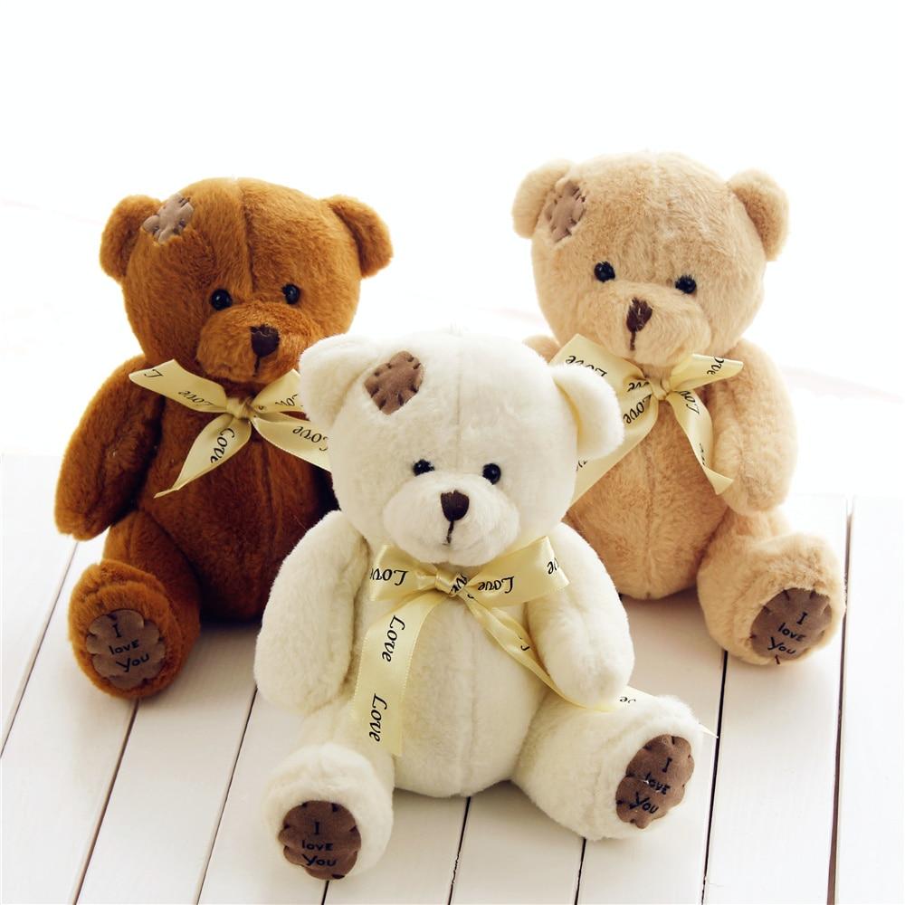1pc 15cm Patch Bear Dolls Teddy Bear Soft Toy Bear Wedding Gifts Baby Toy Birthday gift brinquedos Soft toys