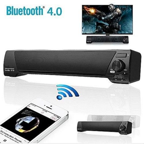 Fashion Wireless TV Sound Bar Surround Bluetooth Speaker Stereo Home Theater Subwoofer with Remote Control