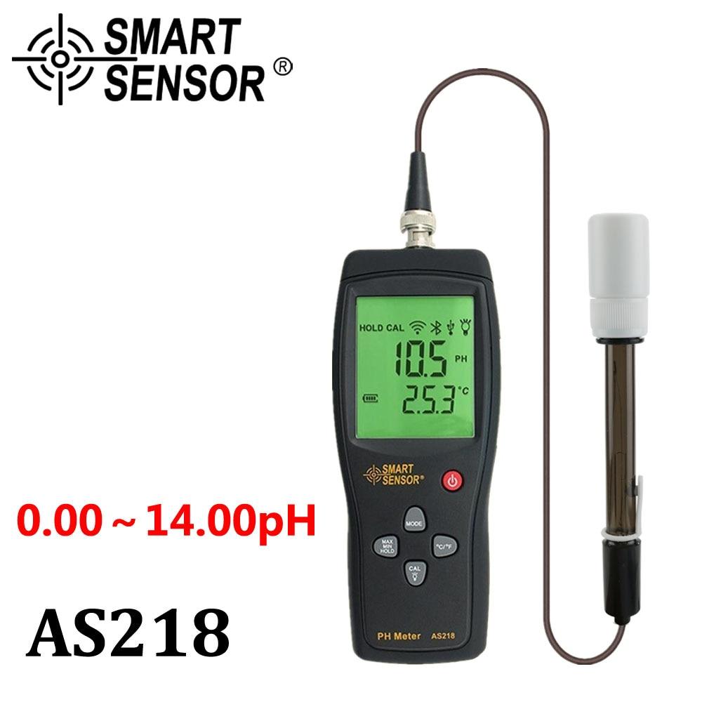 digital PH meter the Soil ph Meter PH tester SmartSensor AS218 0.00~14.00pH Moisture measuring instrument water PH acidity meter