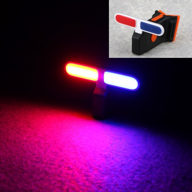 Perfect Red + Blue Light USB Rechargeable COB Rear Bike Taillight Safety Warning  Bicycle Tail Lamp Rear Amazing Ideas