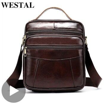 Vintage Black Cross Body Crossbody For Genuine Leather Men Shoulder Bag Messenger Handbag Briefcase Male Sac A Main Bolsas 2020