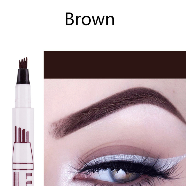 """The """"Waterproof Microblading Pen"""" is a new-concept, four-tip pen that colors each eyebrow with a long wearing, super natural look that lasts all day,"""