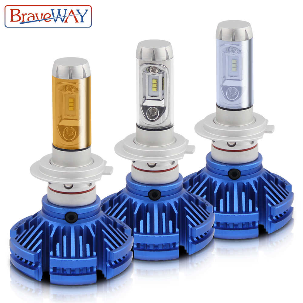 BraveWay LED Headlight H4 H7 H11 Led 3000K 6500K 8000K Car Lights LED Auto Bulbs 9006 BH4 H8 Fog Lamps LED Bulb for Motorcycle