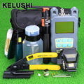 KELUSHI 21 In 1 Fiber Optic FTTH Tool Kit with FC-6S Fiber Cleaver and Optical Power Meter Visual Fault Locator Wire stripper