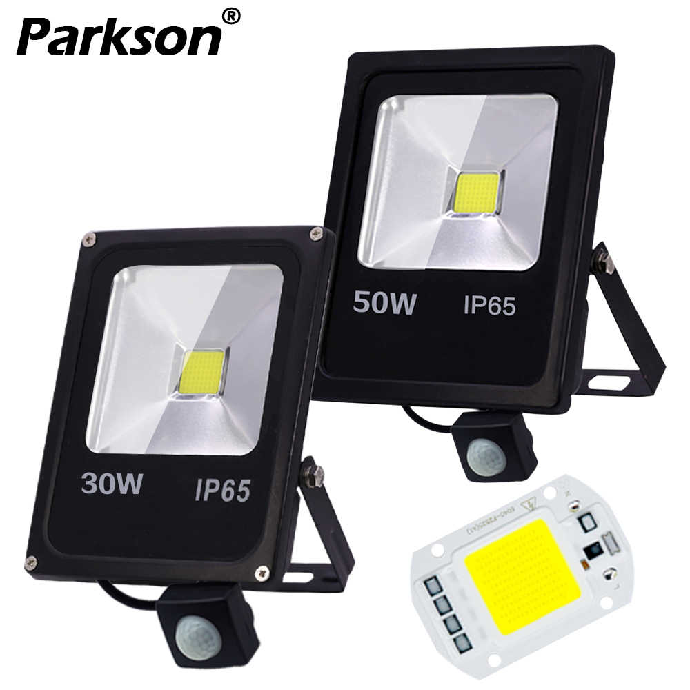 LED Flood Light Motion Sensor IP65 Waterproof 50W 30W 10W Reflector Floodlight Lamp AC 220V Spot Light foco Led Exterior Outdoor
