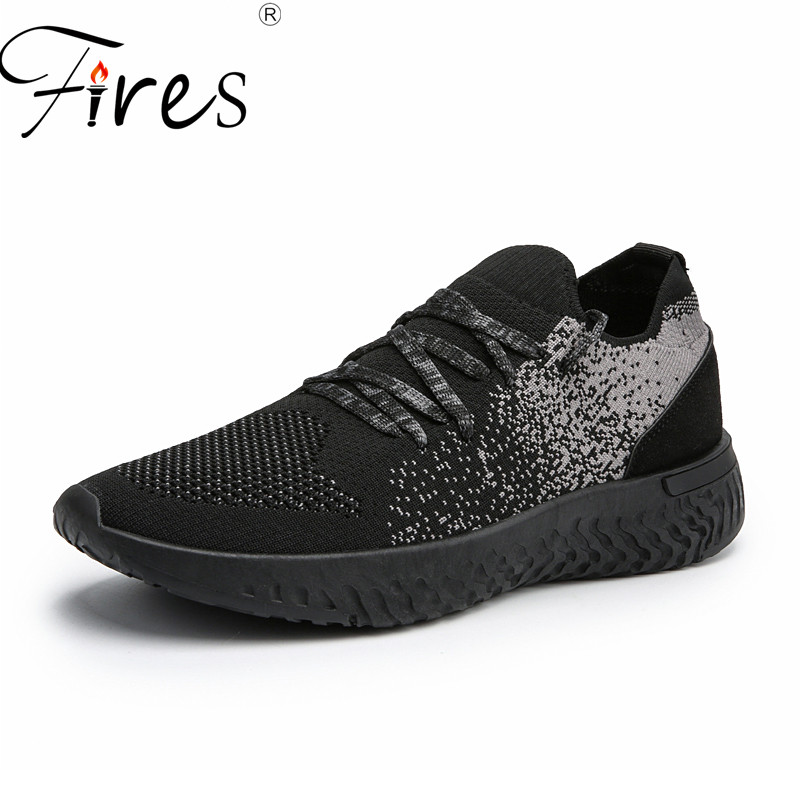 Fires New Trend Breathable Men Casual Shoes Soft Fly Woven Shoes Men Lace-up Fashion Flats Casual Male Comfrotable Shoes