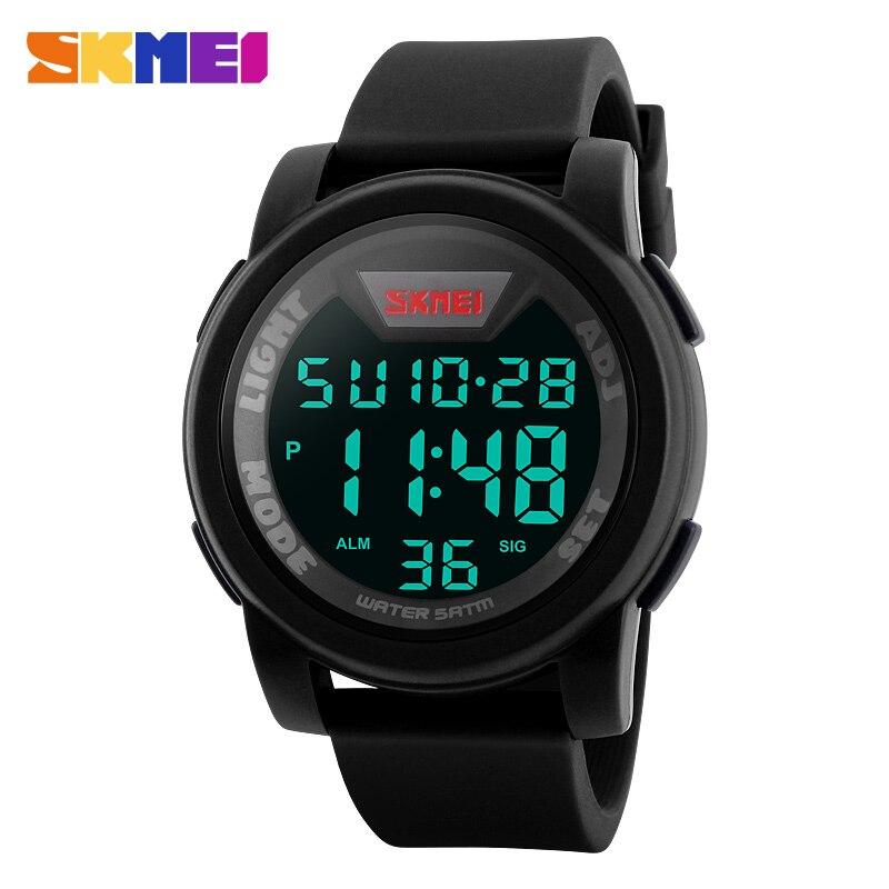 Relógio para Homens Relógios de Pulso m à Prova Skmei Marca Água Esportes Digital Led Relógios Homens 50 Silicone Strap Moda Casual Simples 1218 d'
