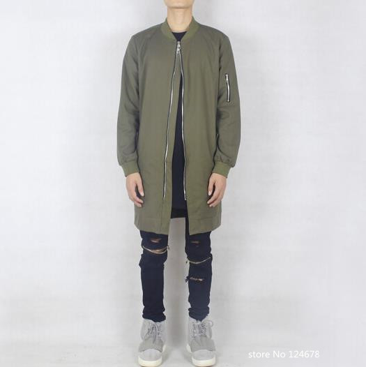 Aliexpress.com : Buy olive green long bomber jacket men military ...
