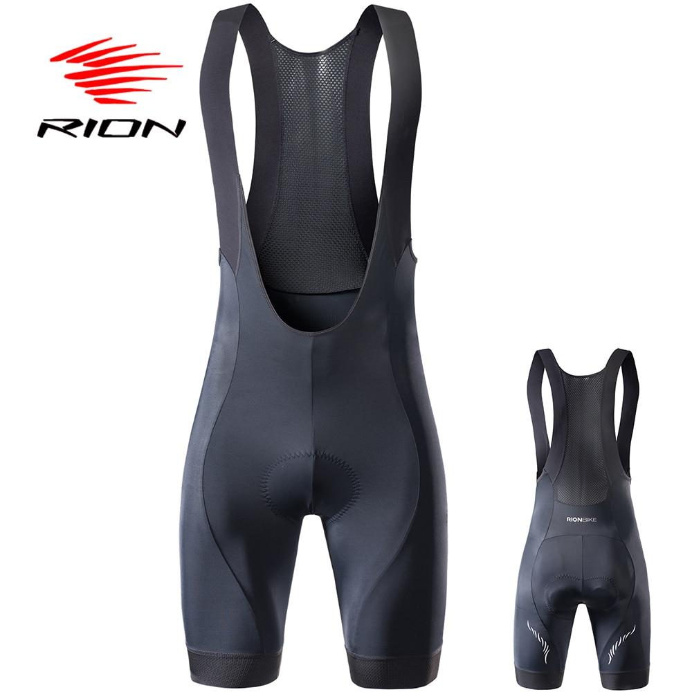 RION High Quality Classic Bib Shorts Race Bicycle Culotte Ciclismo Bike Pants 5R Gel Pad Silicon Grippers At Leg Bib Shorts
