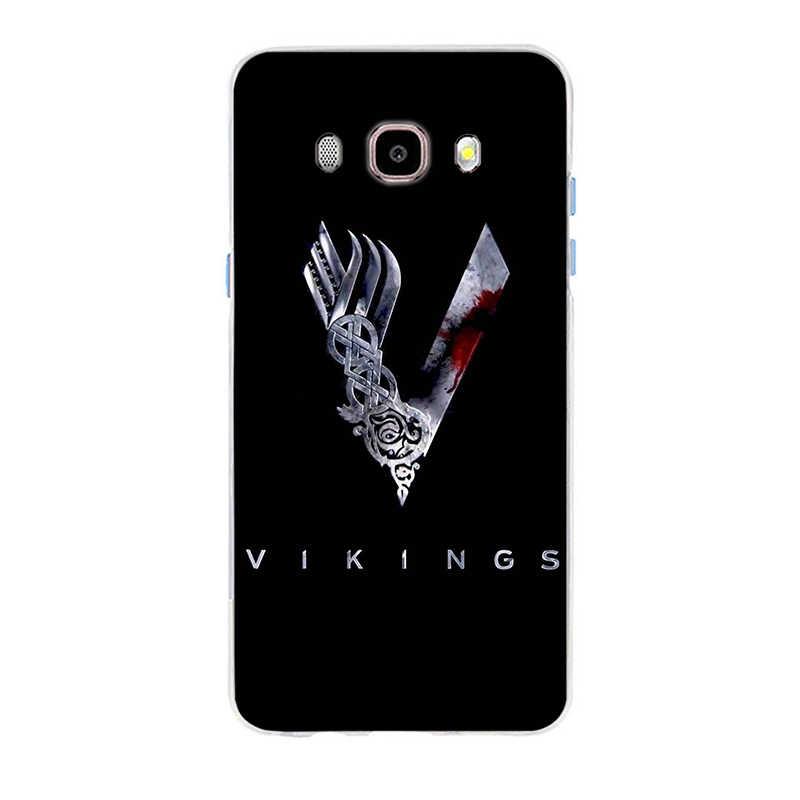 Ragnar Lothbrok vikingos cubierta suave de silicona TPU caso de teléfono para Samsung Galaxy S6 S6edge A7 S7 Edge S8 S9 más A5 j2 J5 J7 2016