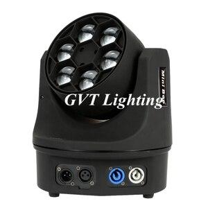 Image 2 - 4 pçs/lote LED Mini Abelha Olho Levou Movendo a Cabeça Feixe de Luz Efeito 6x15W dj discoteca DMX512 4IN1 RGBW CONDUZIU a Lâmpada 10/15CH