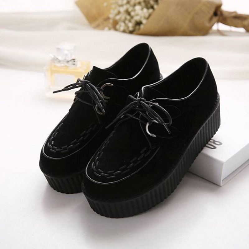 Spring autumn casual shoes women shoes women platform shoes women flat shoes laces Zapatos Planos De Mujer Cordon Mujer Cordones in Women 39 s Flats from Shoes