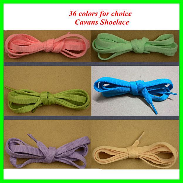 36 Colors Flat Shoelace Shoe laces 110cm Polyester Shoes Lace For Sneaker 45 neon orange 5 16 flat shoelace for all basketball shoes