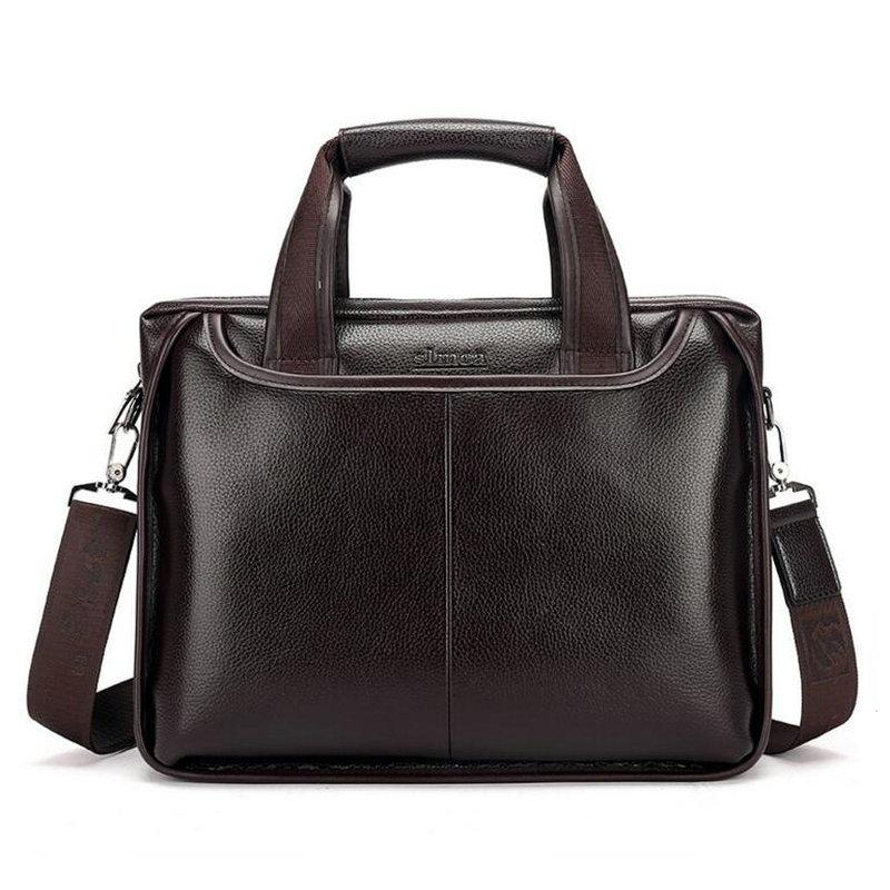 2017 Fashion Genuine Leather Men Briefcase Cowhide Men's Messenger Bags  Laptop Business Bag Luxury Lawyer Handbags