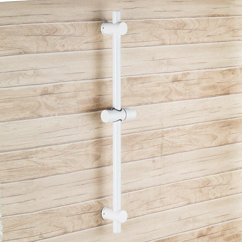 Белый Нержавеющаясталь слайд-бары со всеми латунь ручной душ Кронштейн Рост и регулируемый угол, полированная Сталь-