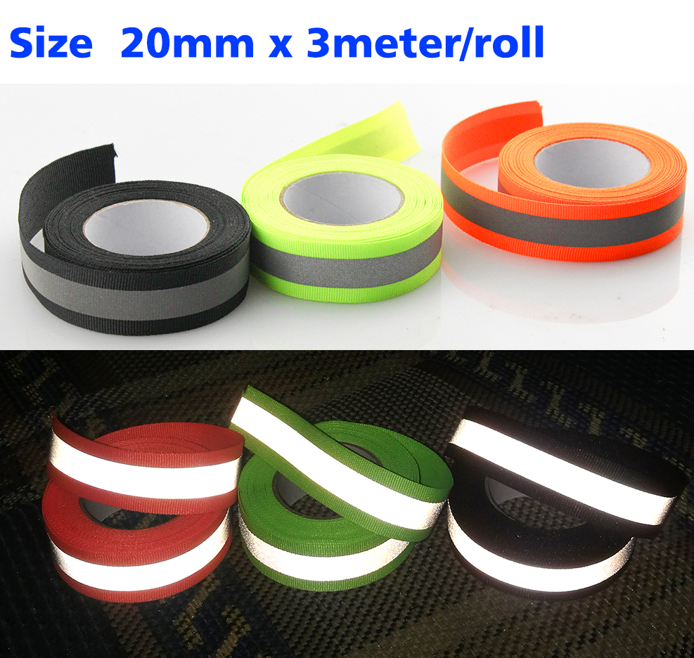 5M  Reflective Tape Strip Sew-On Fabric Trim Safty Reflective strip 10mm wide