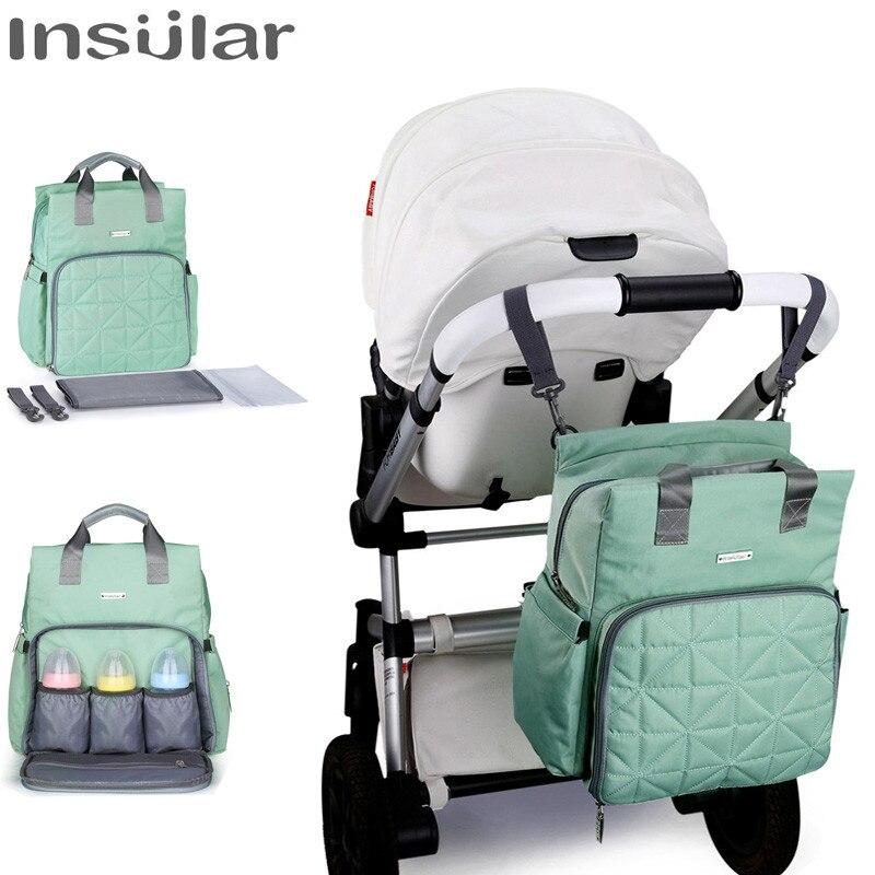 Date bébé couche sac à dos insulaire mode imperméable à l'eau maternité bébé sac multi-fonction momie soins infirmiers sacs poussette sac suspendu