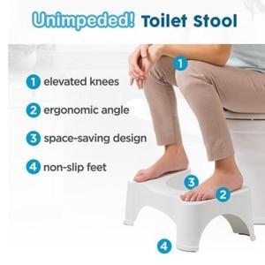 Image 4 - Home Folding Squatting Stool Bathroom Squat Toilet Stool Compact Squatty Potty Stool Portable Step Seat for Home Bathroom Toilet