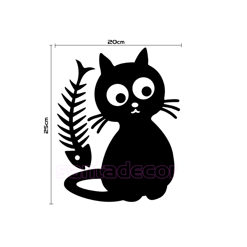 Cute cat cuisine kitten removable vinyl wall sticker decals art kitchen tile fridge wallpaper kids room home decor decoration in wall stickers from home