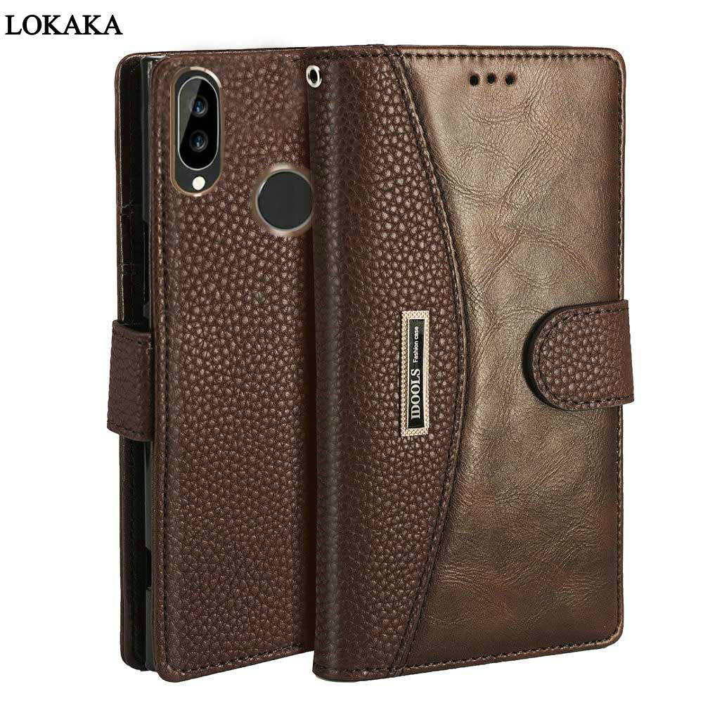 LOKAKA Flip Case For Huawei P20 Lite Luxury Wallet PU Leather Phone Cases For Huawei P 20 P20lite Bag Back Cover HuaweiP20 Funda