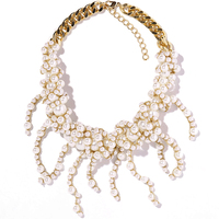 Hot Sale Z Design Jewelry Women Gold Plated Chain Necklaces Luxury Imitate Pearl Necklace Free Shipping